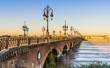 Pont de Pierre à Bordeaux, Gironde, Nouvelle-Aquitaine, France