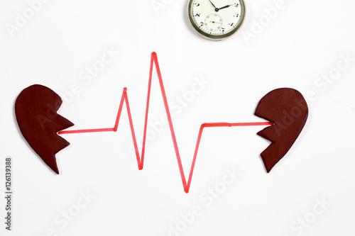 Fotografia, Obraz  Heart and Time