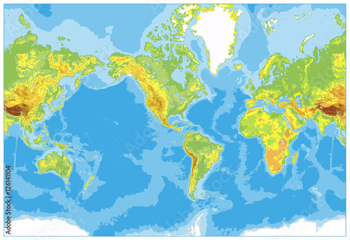 America centered physical world map no text and borders buy this america centered physical world map no text and borders gumiabroncs Choice Image