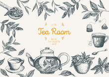 Vector Illustration For Tea Sh...