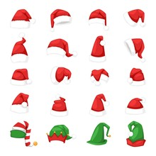 Santa Christmas Hat Vector Ill...