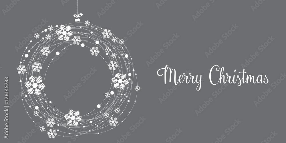 Fototapeta Christmas card, wishes, winter landscape background