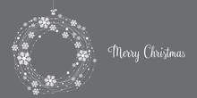 Christmas Card, Wishes, Winter Landscape Background
