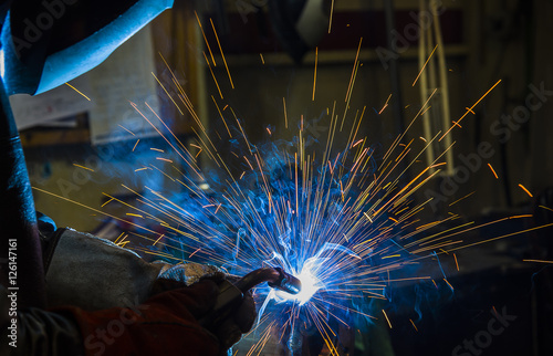 Photo argon welding splatter