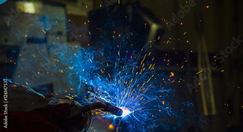 Photo argon welding splatter