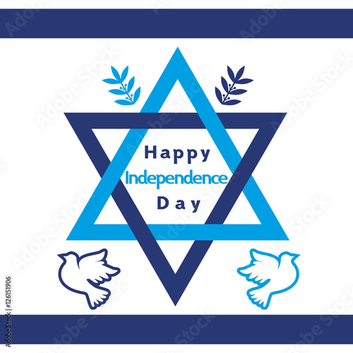 Israel Independence Day Holiday Banner Concept Jewish Celebration