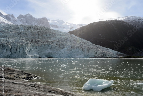 Spoed Foto op Canvas Gletsjers Pia glacier on the archipelago of Tierra del Fuego.