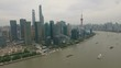 Urban aerial panorama, financial business center Pudong Shanghai China