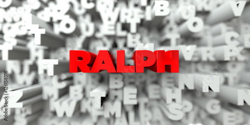RALPH -  Red text on typography background - 3D rendered royalty free stock image Canvas Print