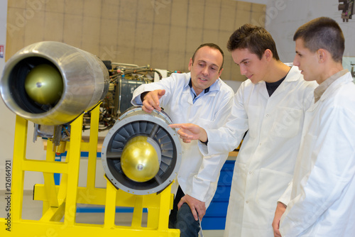 Fotografie, Obraz  aerospace engineering students