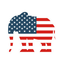 Republican Party Emblem Isolated Icon Vector Illustration Design
