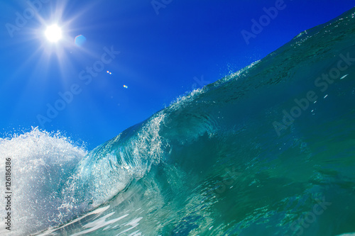 Fototapety, obrazy: Beautiful Ocean Background Huge Shorebreak Wave for Surfing Big