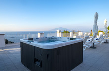 Hot Tub In A Resort Roof Top O...
