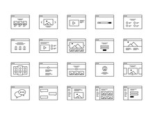 Wireframe Icon Set