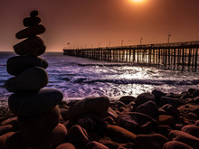 Rocks And Pier