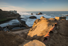Sutro Baths Ruins With Broken ...