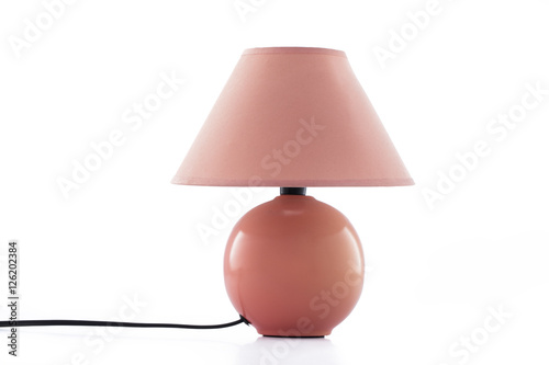 Fotografiet Modern table lamp isolated on white