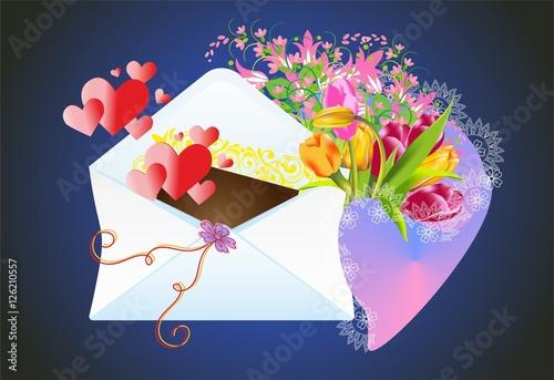 Fotografia, Obraz  list i kwiaty