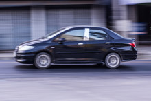 Car Panning Speed On Road, Asia