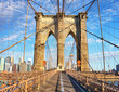 Brooklyn Bridge, New York City, nobody