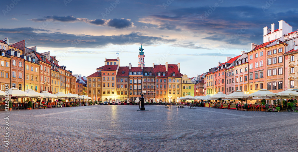 Fototapety, obrazy: Rynek w Warszawie