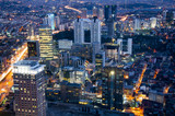 Fototapeta Nowy Jork - panorama miasta noca - miejsckie światlła