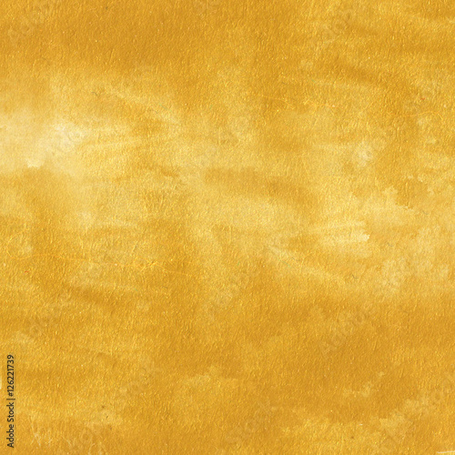 Golden texture. Hand painted gold background. Wallpaper Mural