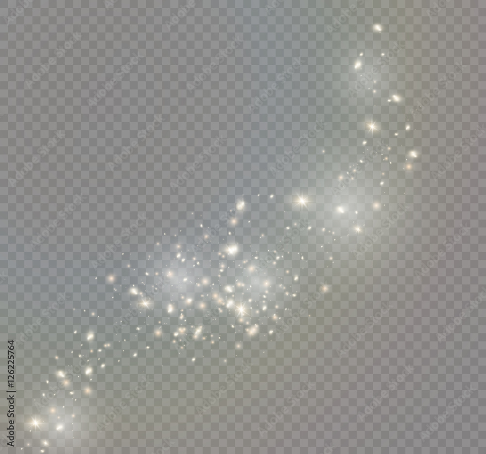 Fototapety, obrazy: Vector glowing stars, lights and sparkles. Transparent effects
