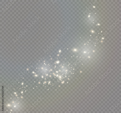 Obraz Vector glowing stars, lights and sparkles. Transparent effects - fototapety do salonu
