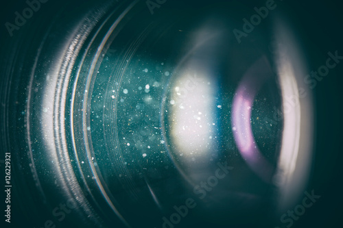 Camera lens with lense reflections. Canvas-taulu