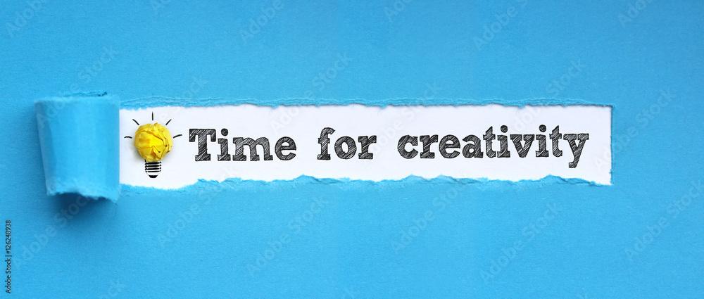 Fototapety, obrazy: Time for creativity