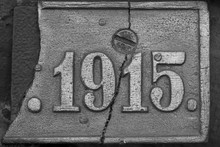 Old Steel Nameplate With 1915 ...