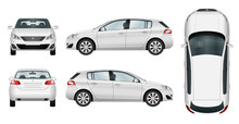 Car Vector Template On White B...