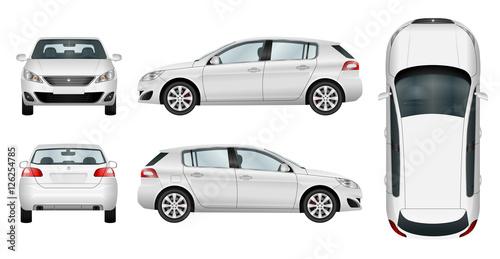 Fotografía Car vector template on white background