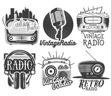 Vector Set Of Radio And Music ...