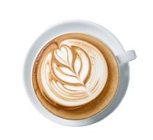 Latte Art Coffee Or Mocha Coffee