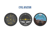 Control Indicators Of Aircraft...