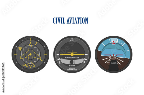 Photo Control indicators of aircraft and helicopters. The instrument p