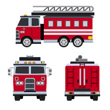 Fire Engine Flat Icon