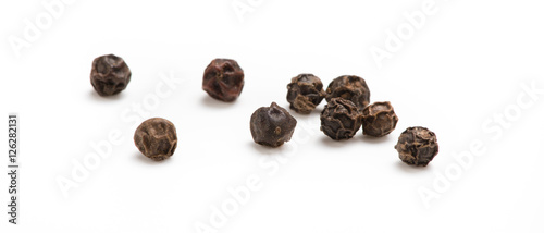 Obraz na płótnie Black pepper isolated on white background. Spices.