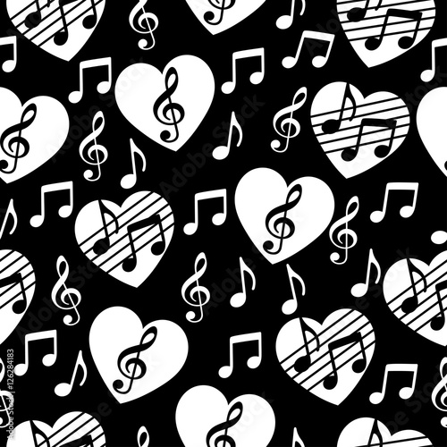love for music musical abstract vector background seamless pattern Two Tone Car Wraps love for music musical abstract vector background seamless pattern heart with a treble