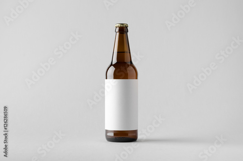 Stampa su Tela Beer Bottle Mock-Up - Blank Label