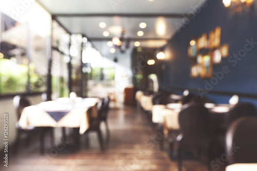 Foto auf AluDibond Restaurant Abstract blur restaurant background