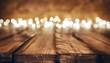 Leinwandbild Motiv lights on wooden rustic background