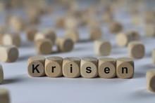 Krisen - Holzwürfel Mit Buchs...