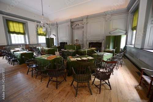 фотографія  Assembly Room in Independence Hall in old town Philadelphia, Pennsylvania, USA