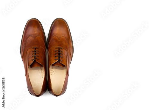 Fototapeta Male brown shoes obraz na płótnie