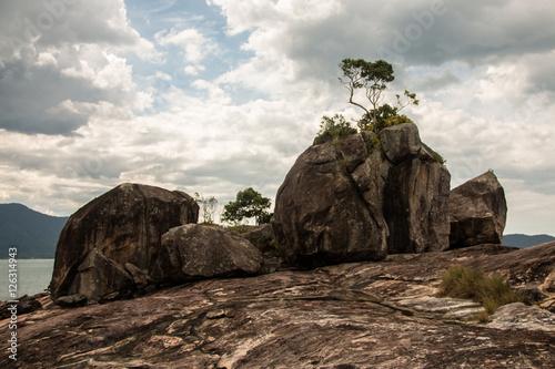 Fotografie, Obraz  pedras na ponta da fortaleza