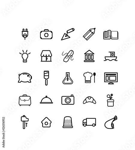Fényképezés  métier, picto, vecteur, pictogramme