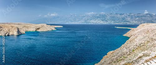 Fotografie, Obraz  Pag island landscape panorama
